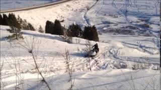 Банда снегоходов шпилит в Нечкино проветрить печень снегоходы экстрим