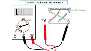 Contrôle moteur triphasé ou monophasé avec un multimètre digital