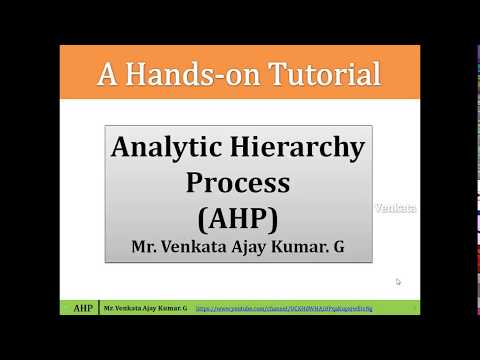 How to Estimate Weights in MCDM methods ? Analytic Hierarchy Process (AHP) #MCDM