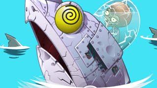 Plants vs. Zombies 2 - ZomBoss Zombot Sharktronic Sub!! Big Wave Beach Part 2, Day 32