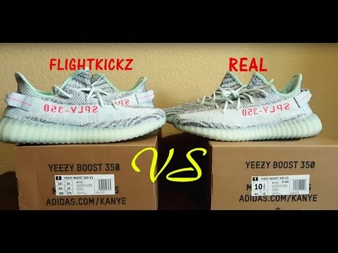 adidas yeezy blue tint real vs fake