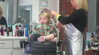 Repeat youtube video TODDLER HAIR SALON STYLE │2•19•14 DAILY VLOG