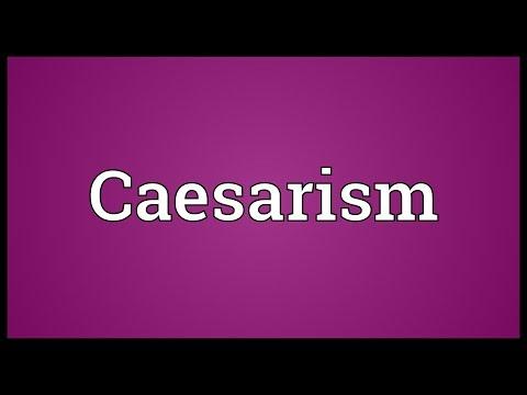 Header of Caesarism