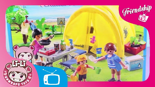 Playmobil Summer Fun Family with C&ing Tent | LI-LI UNWRAPS TOYS | Friendship TV  sc 1 st  YouTube : ninky nonk tent - afamca.org
