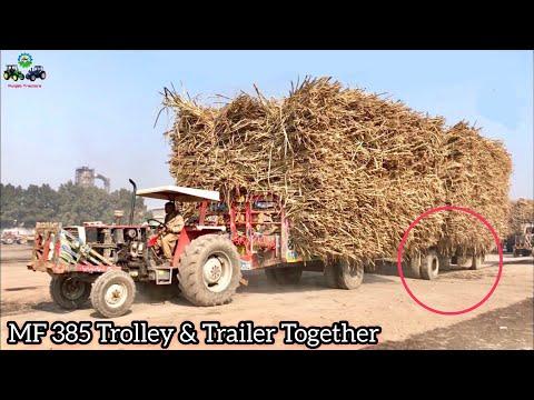MF 385 | Load Challenge Trolley & Trailer Together 68,000KG load Pulling