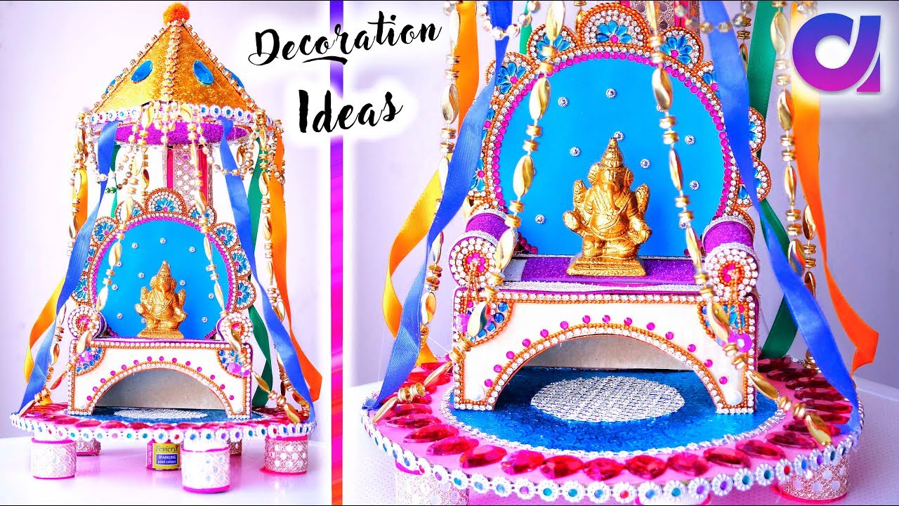 learn quick and easy ganpati decoration ideas for home artkala 281
