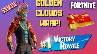 "*NEW* CHINESE NEW YEAR ""FIREWALKER"" SKIN & GOLDEN CLOUDS WRAP GAMEPLAY! (Fortnite)"