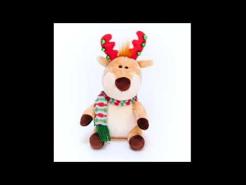 Jingle Bell Moose Musical Plush