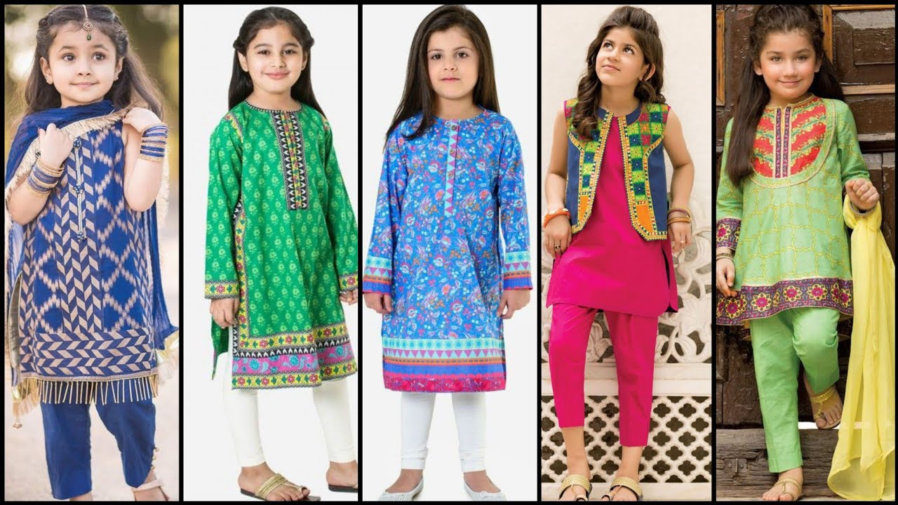 Top class new 55 summer Cotton and lawn Dress Design and stitching ideas for 1 To 8 year Girls