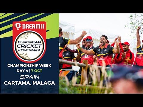 🔴 Dream11 European Cricket Championship | Championship Week Day 4 Cartama Oval Spain | Live Cricket