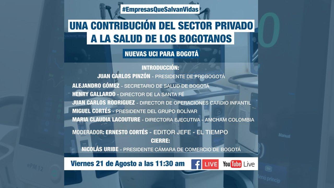 Una contribución del sector privado a la salud de los bogotanos: Nuevas UCI para Bogotá
