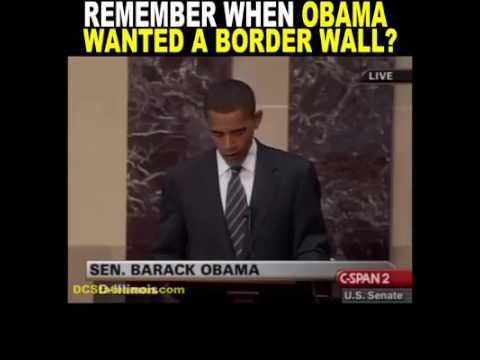 Obama Wanted A Fence Wall Youtube