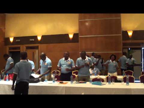 Pikin Nor de born Pikin dance by UNFPA Nigeria Country Office staff at retreat 2013