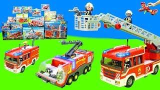 Neue Spielzeug Feuerwehrautos von Playmobil, Paw Patrol & Lego Duplo als Unboxing Kinderfilm