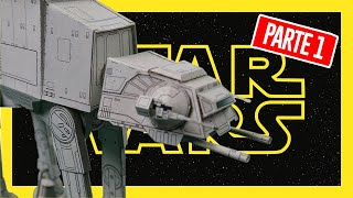 Cómo construir  el vehículo imprerial AT-AT de Star Wars   Papercraft   1era Parte   JorgeAficionado
