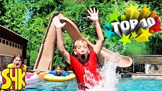 Lifeguard Swimming Challenge and More! TOP 10 FUNNY VIDEOS OF THE YEAR SuperHeroKids Compilation