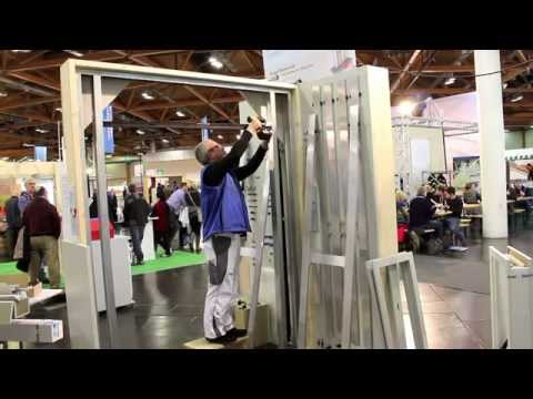 carlo happ f hrt die montage der schiebet r pocket kit von knauf gips vor youtube. Black Bedroom Furniture Sets. Home Design Ideas