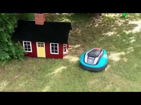 Garage to robotic lawn mower