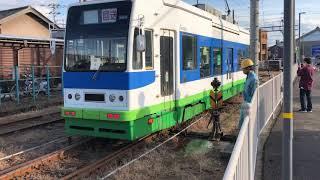 見れるのは最後!?福井鉄道800形と200形の入れ替え風景