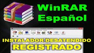 WinRAR 5.21 (32 bits) Registrado en Español Instalador desatendido