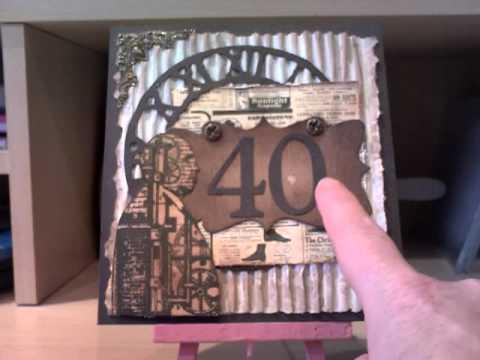 Steampunk Male 40th Birthday Card