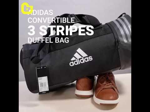 1b4f25ab307 DAS Convertible 3 Stripes Duffel Bag - YouTube