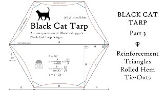 Black Cat Tarp: Part 3 Reinforcement Triangles, Rolled Hem & Tie-Outs