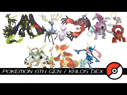 Pokemon 6th Gen / Kalos Dex