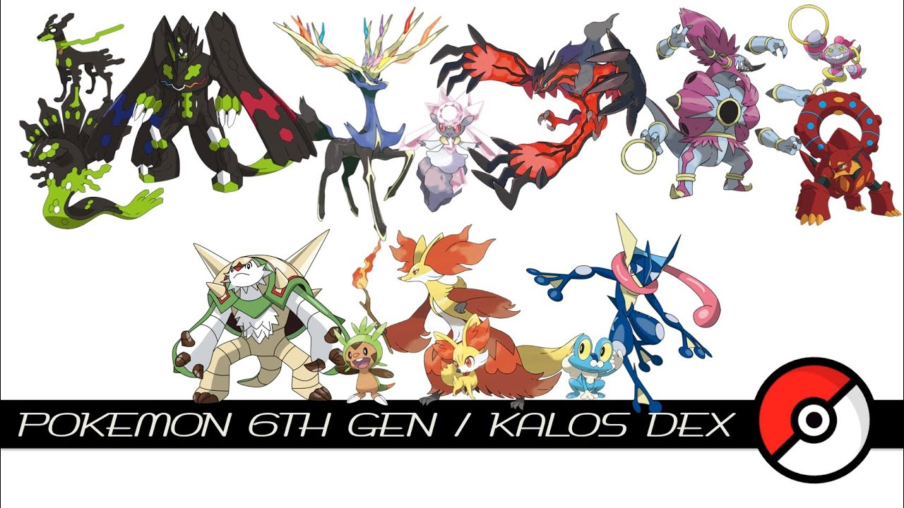 Pokemon 6th Gen / Kalos Dex - YouTube