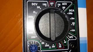 Видеообзор Цифрового Мультиметра(DT-832)