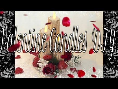 Valentine DIY #4 How To Make Candles From Paper Towel Rolls