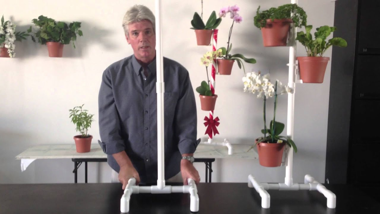 Flower Pot Hanger Plant Stand Assembly For The