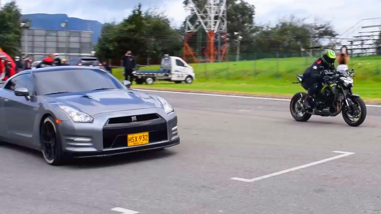 Que LOCURA!!  Z900 VS Nissan GTR!! Drag Race