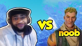 DAQUAN VS. WORST PLAYER EVER! - Fortnite funny moments #4