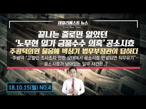 끝나는 줄로만 알았던  '노무현 일가 금품수수 의혹'공소시효 주광덕의원 물음에 박상기 법무부장관이 답하다