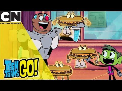 Teen Titans Go! | Vegan Cheese Steak  | Cartoon Network UK 🇬🇧