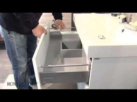 Fa ade tiroir m tallique avec glissi resg1 youtube - Table avec tiroir ikea ...