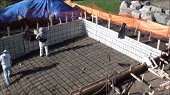 Construction of a Concrete Swimming Pool with Auto Cover