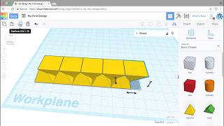 Creating linear patterns | Learning Tinkercad from LinkedIn Learning