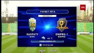 Карпаты - Днепр-1 - 1:1. Обзор матча