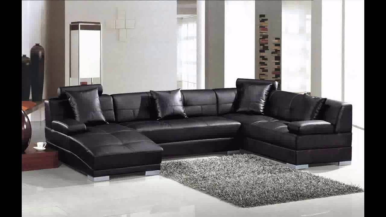 divani casa 3334 modern leather sectional sofa youtube