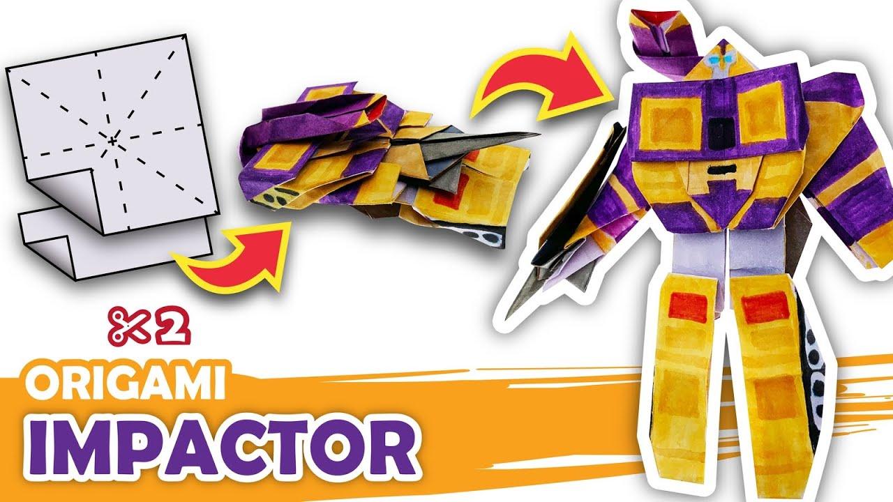 How to make a Transforming Decepticon IMPACTOR Origami Transformer