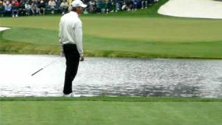 Masters -Vijay Singh-ACE- Another View - Skips Ball Across Water- Hole In One  4/7/09