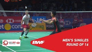 R16 | MS | Jonatan CHRISTIE (INA) [6] vs. Hans-Kristian Solberg VITTINGHUS (DEN) | BWF 2019