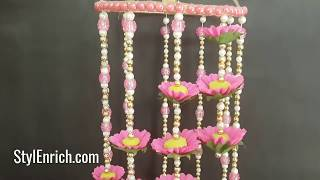 Make Easy Crepe Paper Wall Hanging Home Decor | DIY Wind Chime | Easy Room Decoration