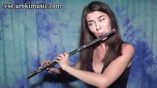 Как играть на Флейте Sia - Chandelier Cover самоучитель уроки обучение ноты школа курсы
