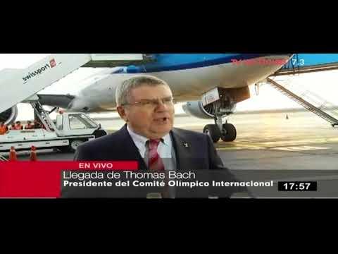 Presidente del Comité Olímpico Internacional arriba a Lima