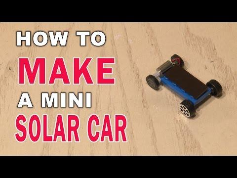 How to Make a Mini Solar Car!