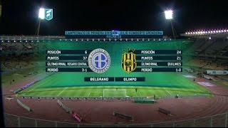 Fútbol en vivo. Belgrano- Olimpo. Fecha 22. Campeonato de Primera División 2015.FPT