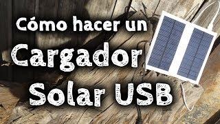 Cómo hacer un Cargador Solar USB Casero...